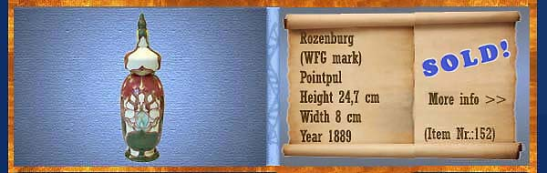 Nr.: 152,  Already sold: Decorative pottery of Rozenburg