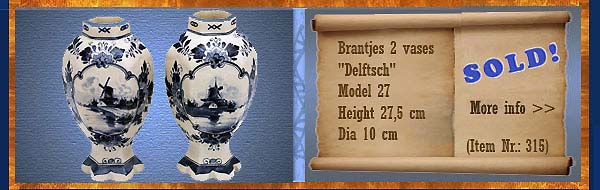 Nr.: 315,  Already sold: Decorative pottery of Brantjes