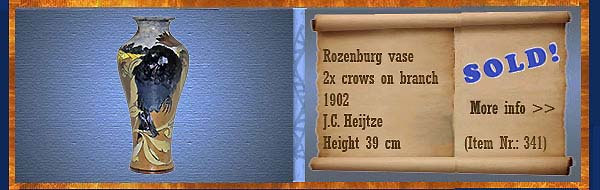 Nr.: 341,  Already sold: Decorative pottery of Rozenburg