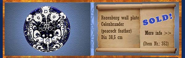 Nr.: 352,  Already sold: Decorative pottery of Rozenburg