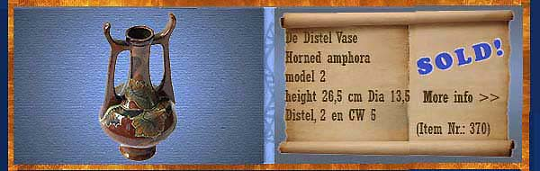 Nr.: 370, Allready sold decorative pottery of Distel, Description: Plateel Vase