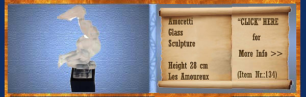 Nr.: 134, On offer glass Art of Amoretti, description: Glass   Sculpture, height 28 cm , period: unknown, Les Amoureux