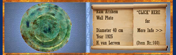 Nr.: 160, On offer decorative pottery of Ram, Description: Plate, Diameter 40 cm, Year: 1925, Decorator : H. van Lerven