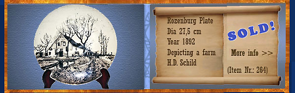 Nr.: 264, On offer decorative pottery of Rozenburg	, Description: Plateel Plate, Diameter 27 cm