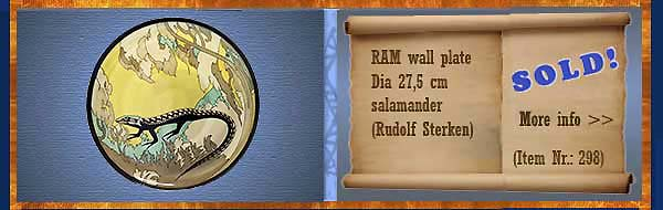 Nr.: 298, On offer decorative pottery of Ram, Description: Plate