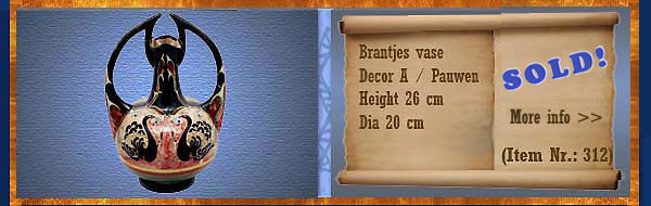 Nr.: 312, On offer decorative pottery of Brantjes