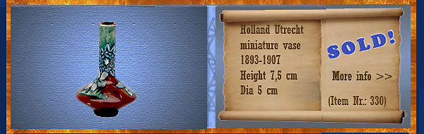 Nr.: 330, On offer decorative pottery of Holland Utrecht, Description: Plateel Vaas