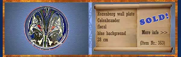 Nr.: 353, On offer decorative pottery of Rozenburg, Description: colenbrander Plateel Plate