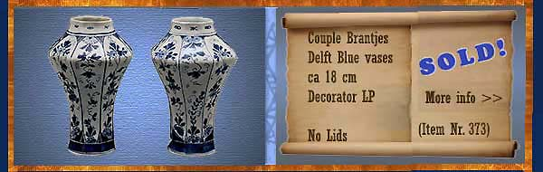 Nr.: 373, On offer decorative pottery of Brantjes