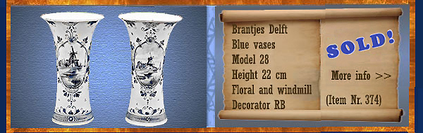 Nr.: 374, On offer decorative pottery of Brantjes
