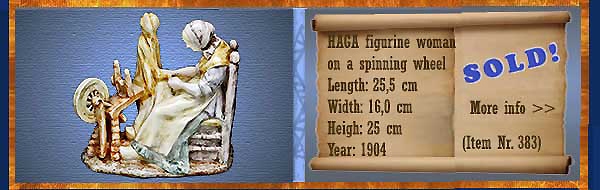 Nr.: 383, On offer decorative pottery of Haga