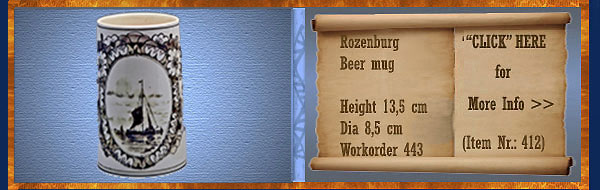 Nr.: 412, On offer decorative pottery of Rozenburg