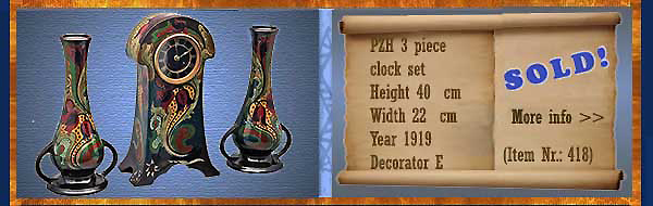 Nr.: 418, On offer decorative pottery of PZH