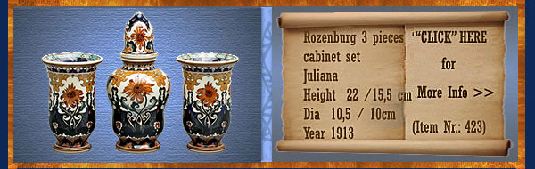 Nr.: 423, On offer decorative pottery of Rozenburg
